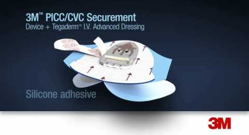 3M™ PICC/CVC Securement Device + Tegaderm™ I.V. Advanced Dressing Application and Removal
