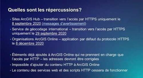 Le passage d'ArcGIS Online à l'accès par HTTPS uniquement (en français)