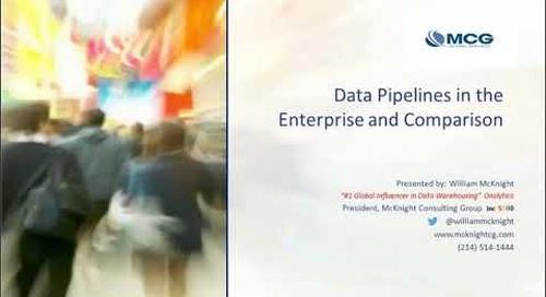 ADV Data Pipelines in the Enterprise and Comparison