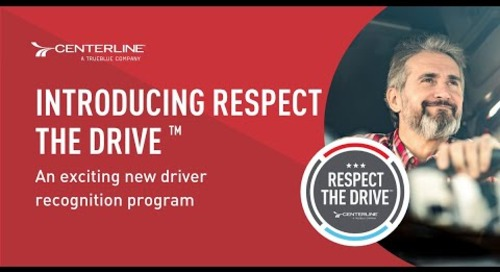 Introducing Respect the Drive™: An exciting new driver recognition program [Video]