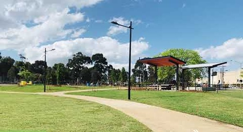 Broadmeadows Town Park before and after