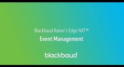 Blackbaud Raiser's Edge NXT In a Flash: Event Management