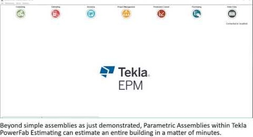 Parametric assemblies in Tekla EPM