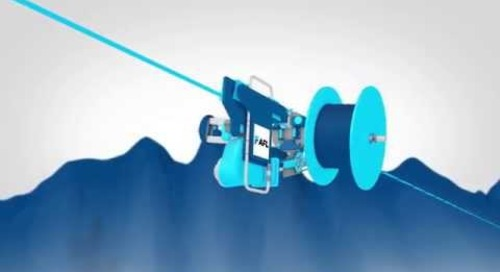 AFL SkyWrap Attached Fiber Optic Cable System for Aerial Powerlines [French Version]