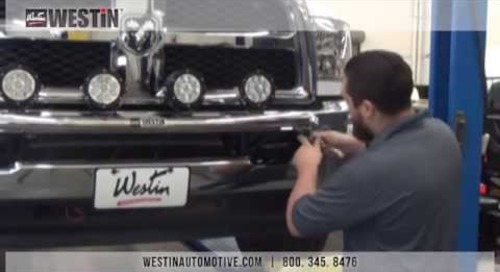 Installation of Westin Off-Road Light Bar on Dodge Ram 1500 PN#37-02590