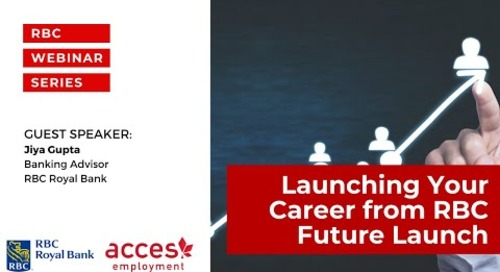RBC Royal Bank Webinar | Launching Your Career from RBC Future Launch