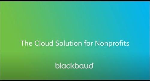 Blackbaud Cloud Solution for Nonprofits