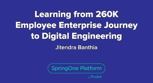 Learning From 260K Employee Enterprise Journey to Digital Engineering