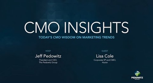 CMO Insights: Lisa Cole, Corporate VP and CMO of Huron
