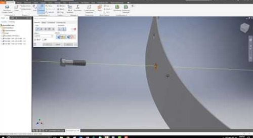 Inventor Technique for Mating to Curved Sheet Metal Hole