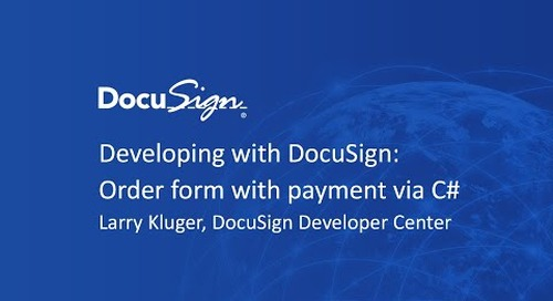 Developing with DocuSign: Order form with payment via C#
