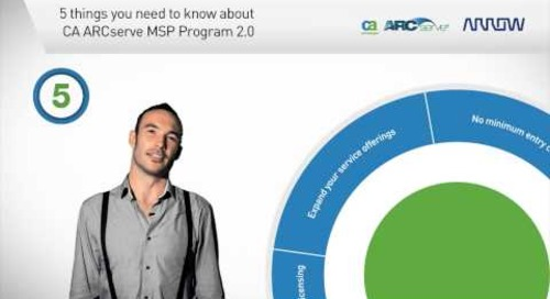 The CA ARCserve MSP Program