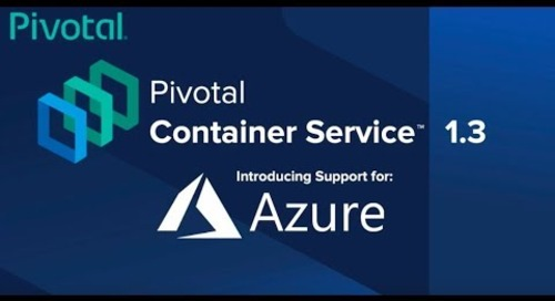Pivotal Container Service 1.3 on Microsoft Azure