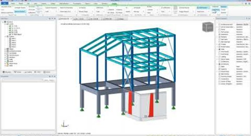 Graphical Analysis Results in Tekla Structural Designer