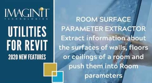 Utilities for Revit Room Surface Parameter