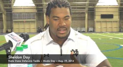 Notre Dame DT Sheldon Day - Media Day 2014