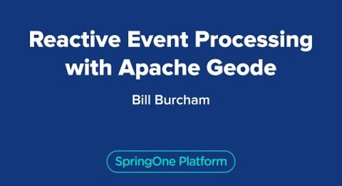 Reactive Event Processing with Apache Geode
