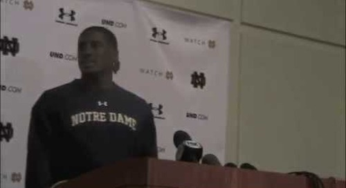 Oct. 15, 2014 — Everett Golson discusses his turnover issues before Notre Dame faces Florida State