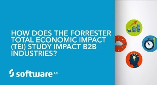 How does the Forrester Total Economic Impact (TEI) Study impact B2B industries?