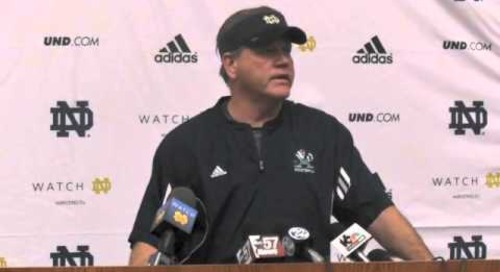 ND's Brian Kelly - Spring Practice Day 1