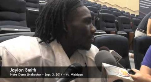 Notre Dame LB Jaylon Smith - vs. Michigan (9/3/14)