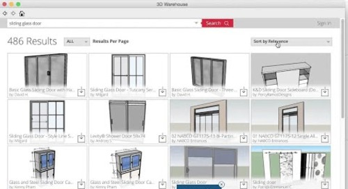 3D Warehouse: Searching and Downloading