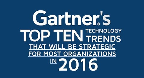 Gartner Top 10 Tech Trends for 2016