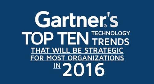 Gartner Top 10 Tech Trends for 2016