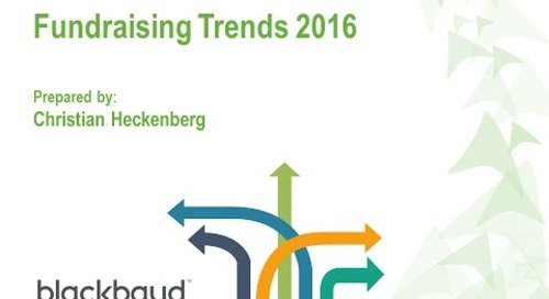 Fundraising Trends 2016