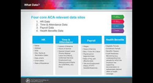 What Makes up the Different Four Core ACA Relevant Data Silos?