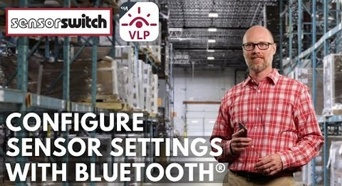 Sensor Switch Mobile App - Configure Sensor Settings with Bluetooth®