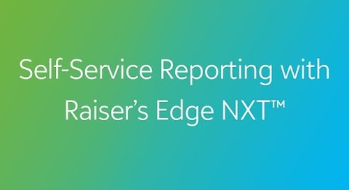 COVID-19: Self-Service Reporting with Raiser's Edge NXT