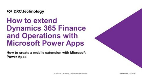How to extend Microsoft Dynamics 365 with Power Apps