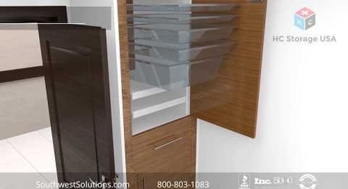Nurse Server Pass-Thru Wall Cabinets for Hospital Patient Rooms