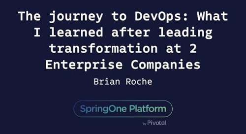 The Journey to DevOps: What I Learned - Brian Roche, Cognizant