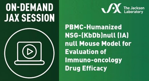 PBMC-Humanized NSG-(KbDb)null (IA)null Mouse Model for Evaluation of Immuno-Oncology Drug Efficacy