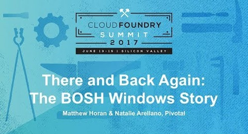 There and Back Again: The BOSH Windows Story