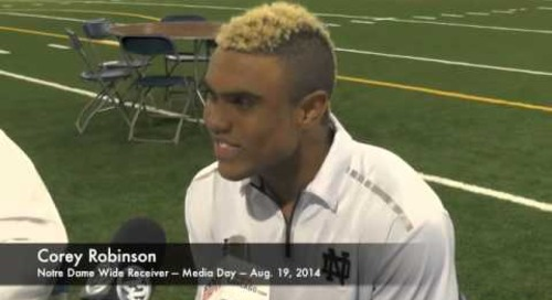 Notre Dame WR Corey Robinson - Media Day 2014