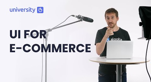 Algolia Build 201 - UI for E-Commerce