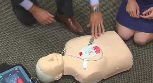 KPTV How to Use an  AED with Dr. Beckerman ( 7/31/12)