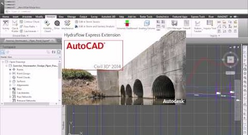 Storm, Sanitary and Flood Analysis Workflow with Autodesk Infrastructure Design Suite