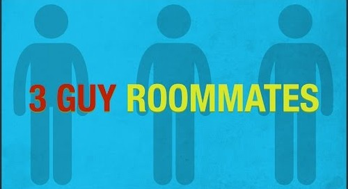 Living With Guy Roommates Illustrated With Charts & Graphs