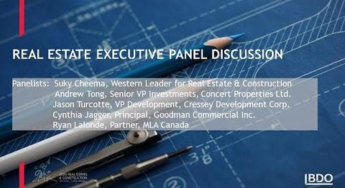 Real estate executive panel discussions | BDO Canada