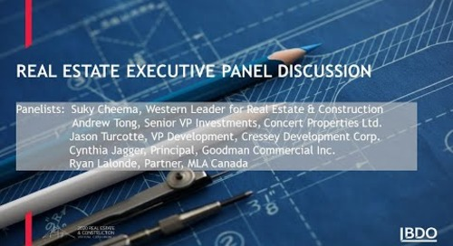 Real estate executive panel discussions | BDO Canada