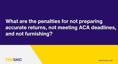 What are the penalties for not preparing accurate returns? - Trusaic Webinar