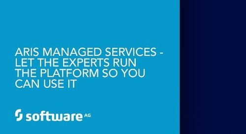 ARIS Managed Services - Let the experts run the platform so you can use it