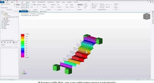 Tekla Structural Designer 2020 - Modelling and analysing stairs