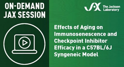 Effects of Aging on Immunosenescence and Checkpoint Inhibitor Efficacy in a C57BL/6J Syngeneic Model