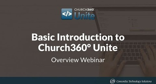 Basic Introduction to Church360° Unite