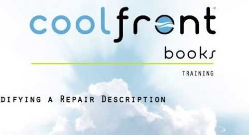 Coolfront Books - Modifying a Repair Description
